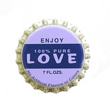 love bottlecap poster