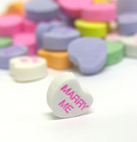 marry me candy heart poster