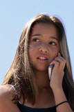 teenage girl on the phone poster