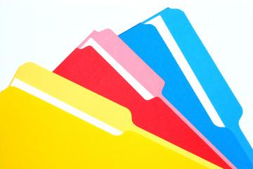 colored folders tricolor