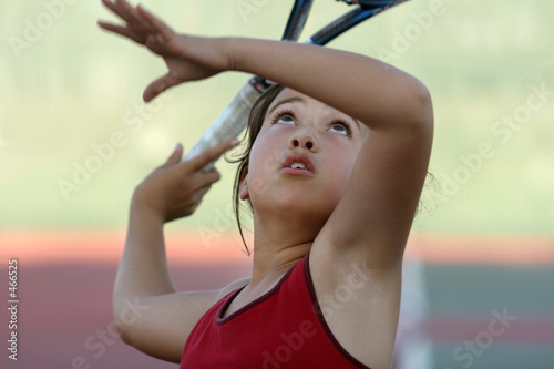 cute girl playing tennis