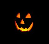 glowing pumpkin poster