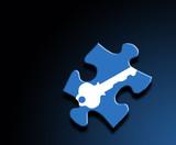 puzzle key theme poster
