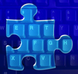 computer puzzle poster