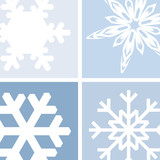 snowflake illustration poster