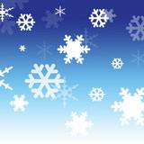 falling snowflakes poster