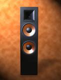 stereo speaker poster