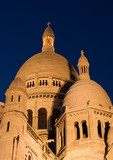 the dome of the sacre coeur at twilight poster