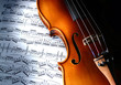 Leinwanddruck Bild - violin