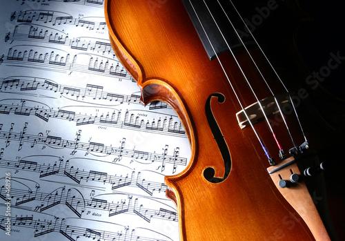 Leinwanddruck Bild violin