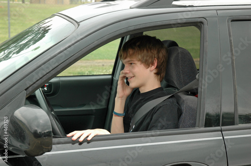 teen driver with a cell phone