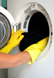 housekeeping: washing clothes poster