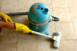 housekeeping: cleaning the floor poster