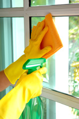 housekeeping: cleaning the windows