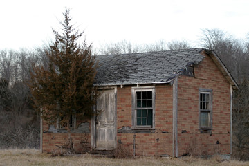 'brick' cabin - sw view