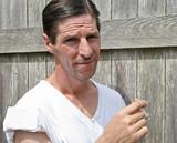 tough guy smoking poster