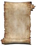 manuscript, rough roll of parchment poster