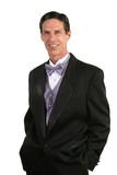 handsome man in tuxedo poster
