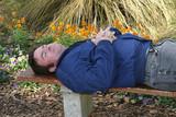 asleep in the garden poster