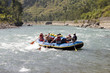 canvas print picture - whitewater rafting - nepal