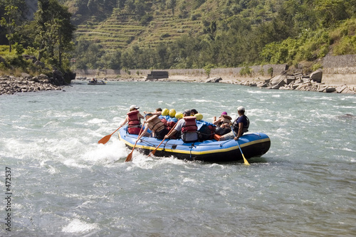 canvas print picture whitewater rafting - nepal