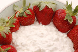 cottage cheese strawberries poster