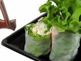 vegetables roll and chopsticks poster