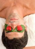 fruit acid peel mask poster
