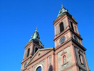 prague city center and church