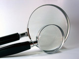 magnifying glasses poster