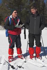 skiers, orienteering