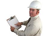 construction supervisor - concerned poster