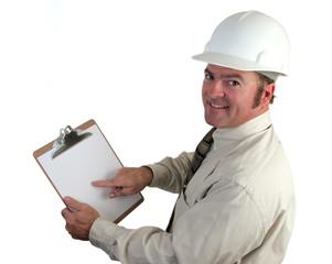 construction supervisor happy