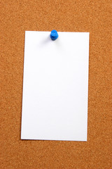empty card on a board vertical