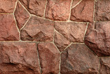 red granite wall poster