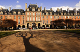 france, paris: place des vosges poster