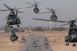 helicopter scramble