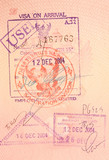 passport stamps - visa on arrival to thailand poster