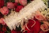 white bridal garter poster