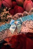blue bridal garter poster