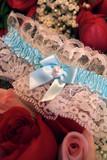 blue bow garter poster