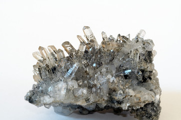druze of quarz crystal
