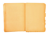 old book with blank pages poster