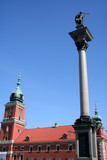 royal palace in warsaw and the column of king sigm - 482746