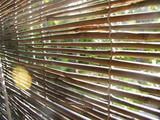 store en bambou avec rayon de soleil poster