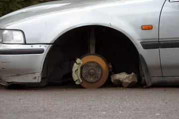 stolen wheels