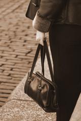 women with handbag