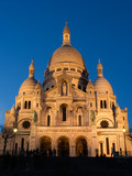 the sacre coeur at twilight poster