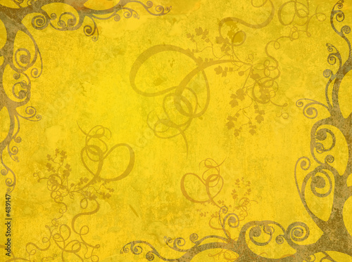 yellow artistic frame