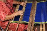 malaysia, borneo, sarawak: weaving poster